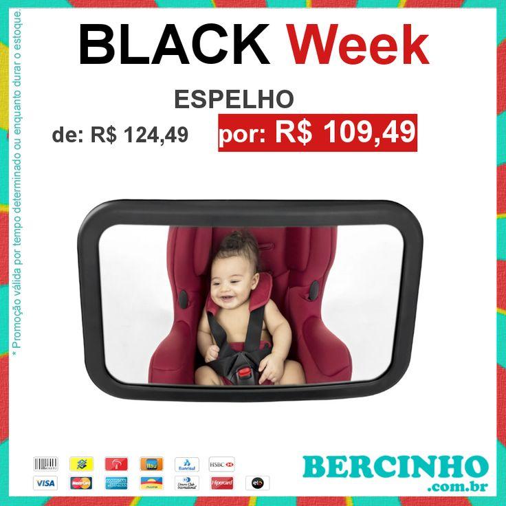 Estamos chegando ao fim!!! A Black Week Bercinho.com.br - A Loja do seu Bebê termina HOJE!  >> www.bercinho.com.br/espelho-retrovisor-grande-banco-traseiro-kababy.html