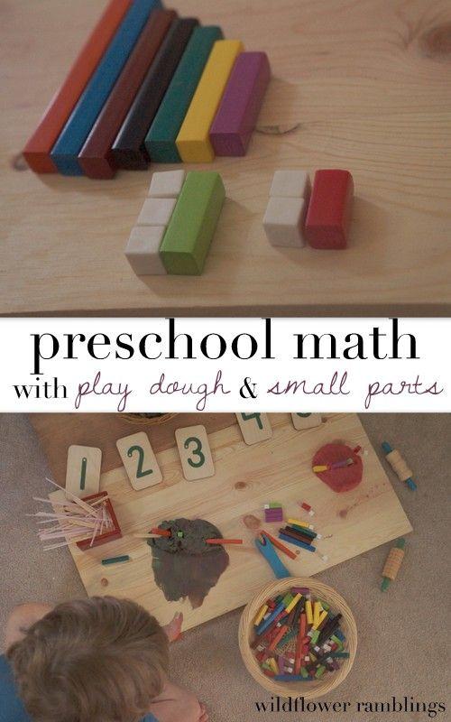 reggio inspired play dough and math play - Wildflower Ramblings