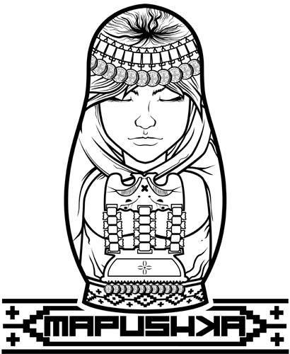 mapushka (mapuche) ilustracion digital by Sosh