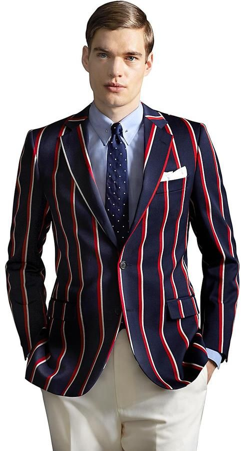 Pin By Lookastic On Blazers In 2019 Striped Blazer