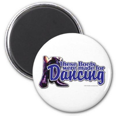 Country+western+dance+Silhouettes | Dancing Boots Refrigerator Magnets  These Boots Were Made