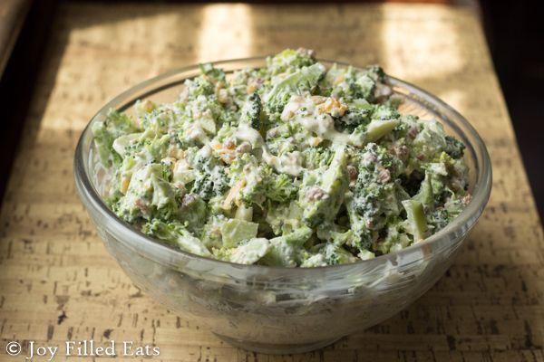 Bacon Ranch Cheddar Broccoli Salad via @joyfilledeats