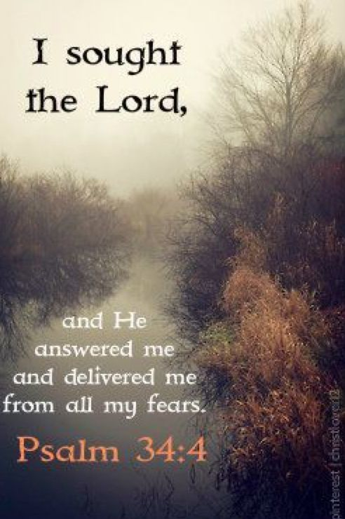 I sought the Lord, And he answered me and delivered me from all my fears.