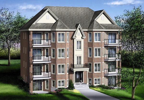 125 best images about duplex apartment plans on for Rear access home designs