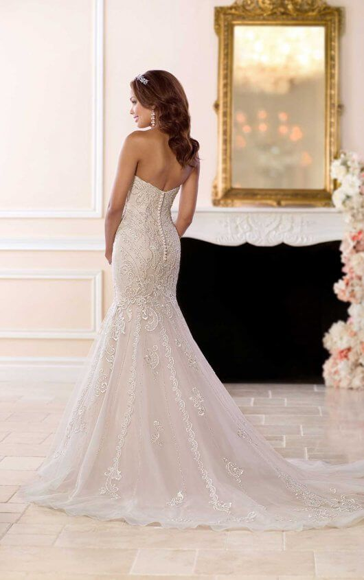 e6c15bf5f3f 6654 Mermaid Wedding Dress with Glamorous Lace by Stella York