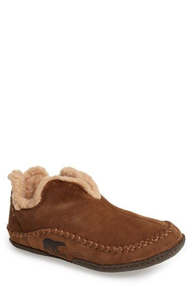 Free shipping and returns on SOREL 'Manawan' Slipper (Men) at Nordstrom.com. Soft, wooly faux-fur lines a lightweight, comfortable slipper formed from flexible suede.
