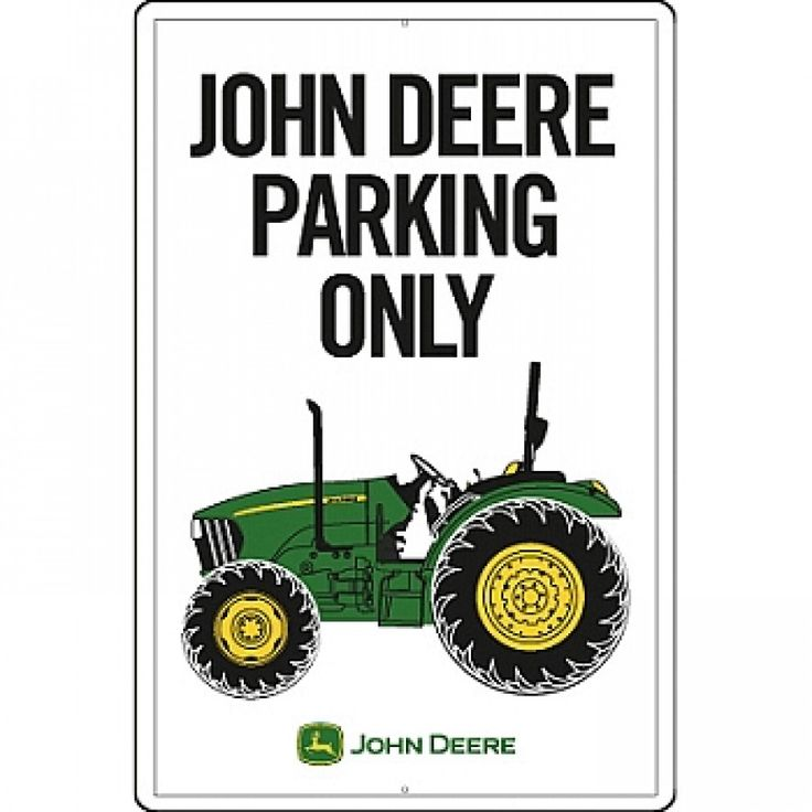 John Deere Wall Decor Plaques Signs : John deere parking only metal sign rungreen