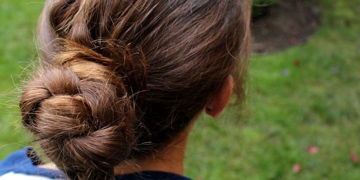 Toss on your school colors, and try this easy braided bun tutorial for an easy look that's perf for cheering your team on.