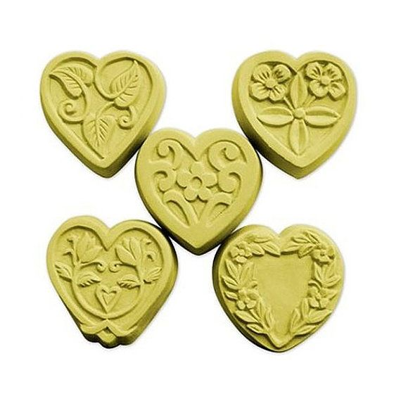 5 Guest hearts soap mold ,soapmaking molds, Soapmaking supplies | Handmade soaps, soapmaking, melt & pour, Cold process soap