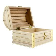 "ArtMinds® Wood Treasure Chest, 5.12"" x 3.43"" x 3.54"""