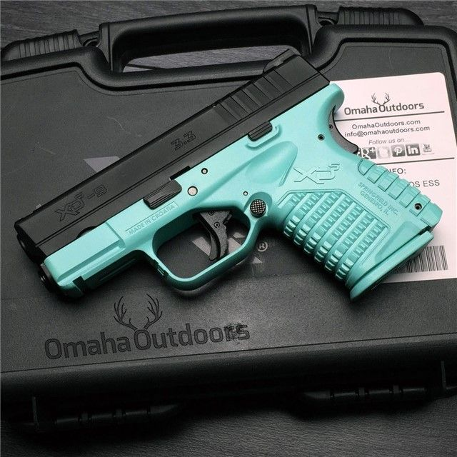 Springfield XD-S Essentials Tiffany Blue 9mm 7 / 8 RDS 3.3″ Handgun - Omaha Outdoors