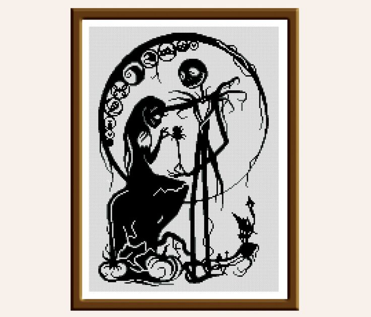 22 best Nightmare before Christmas cross stitch/embroidery images ...