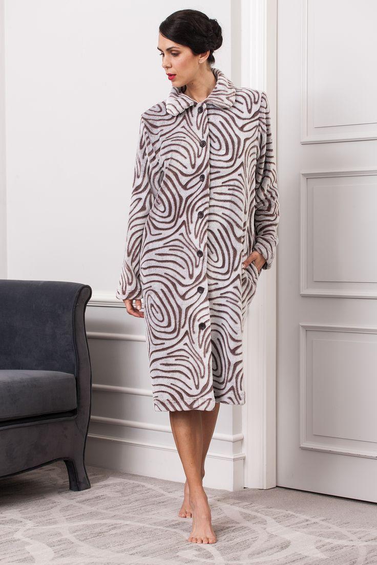 #cozy #animalprint dressing gown. #fallwinter2017 homewear collection.