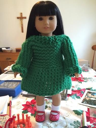 Jersey para muñecas doll's sweater tejido en telar por Evangeline T