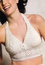 Image result for pattern for crocheted halterneck tops