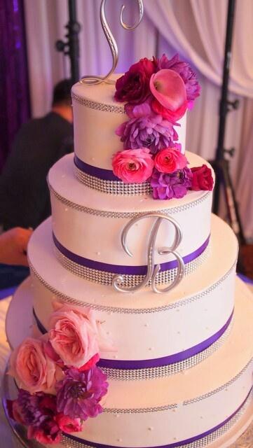 Purple Pink Wedding Cake - Unique Wedding Ideas
