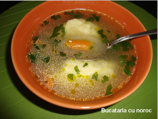Supa cu galuste - Bucataria cu noroc