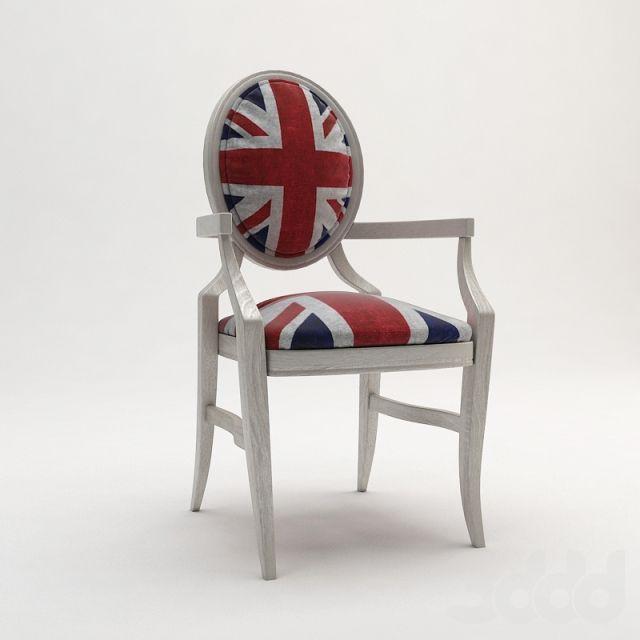 3d модели: Стулья - Деревенский стул «Корнуэлл» / Cornwell countryside chair