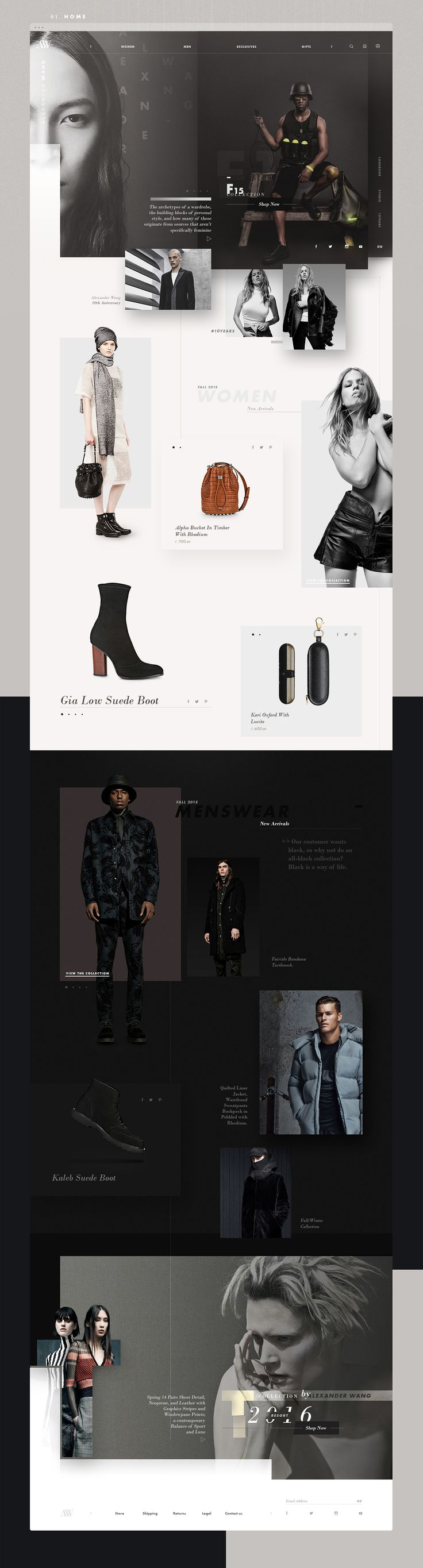 Alexander Wang | Redesign Concept on Web Design Served