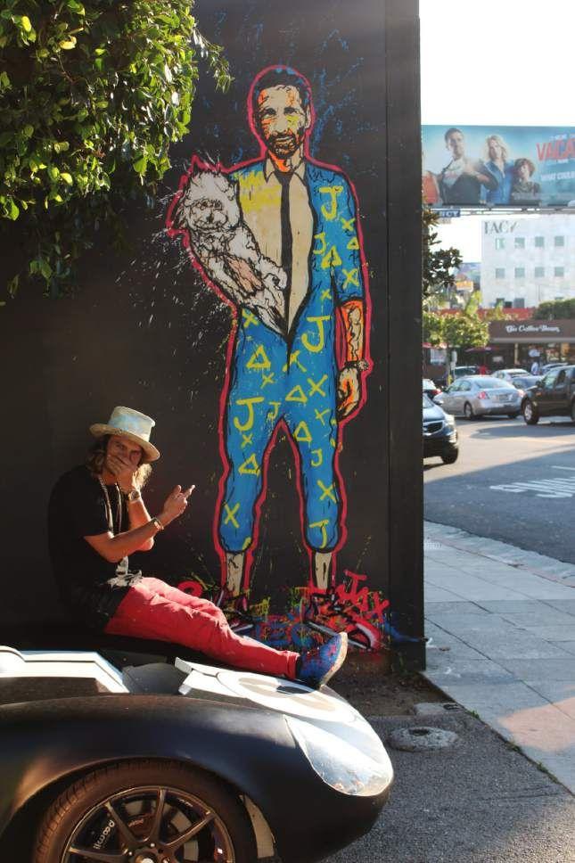 (Bryan Garcia | Courtesy photo) Graffiti artist Alec Monopoly with his  posthumous mural of