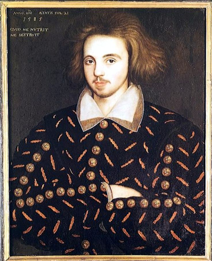 "Christopher ""Kit"" Marlowe - one of Matthew de Clermont's/Roydon's friends that Diana Bishop first meets in Shadow of Night. / Pictured:  Unknown 21-year old man, supposed to be Christopher Marlowe, artist unknown"