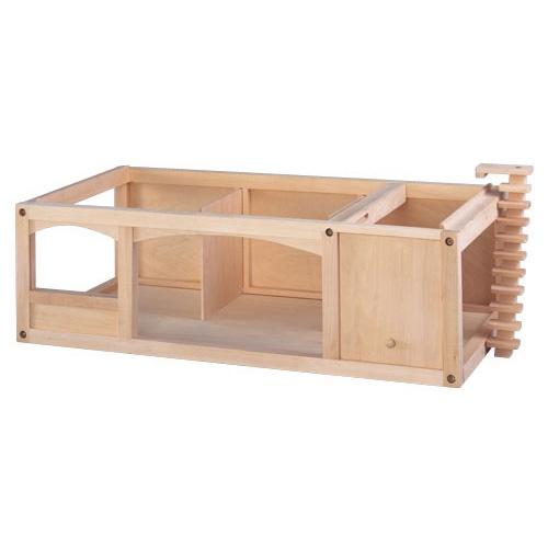 --- Poppenhuis : Poppenhuis uitbreiding ---     Om het poppenhuis te vergroten kan men er een kelder onder plaatsen met nog eens 3 ruimtes, waaronder een garage.  Formaat: 80 x 42 x 24 cm (l x b x h)..   525017
