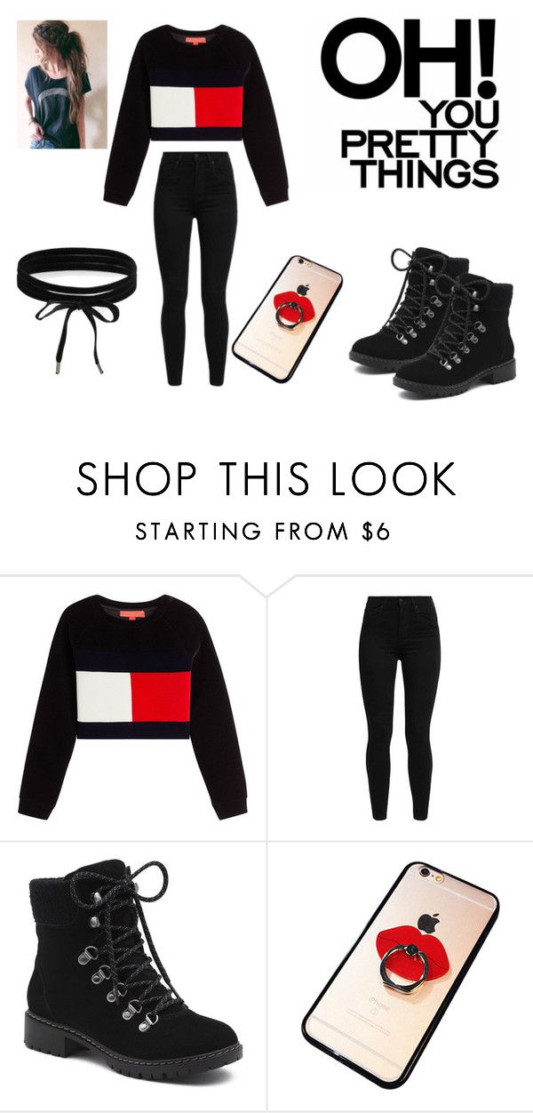 """teenage outfit #1"" by cutehydia on Polyvore featuring Levi's, G.H. Bass & Co., Chicnova Fashion and Boohoo"
