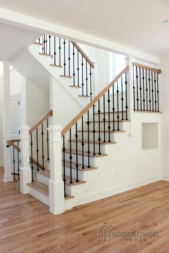 Black Railing White Spindles Image Result For Newels With