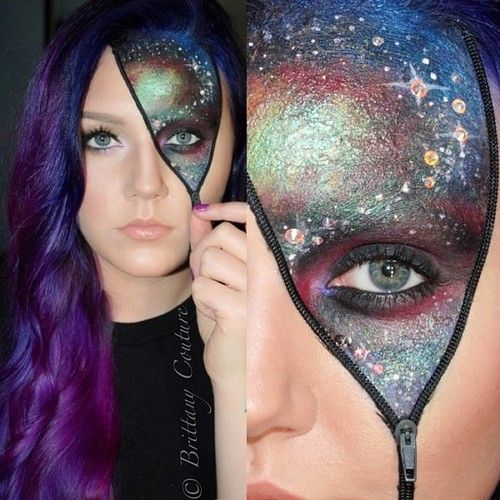 So I need to learn how to do make up, AND THIS COULD HELP FOR HALLOWEEN