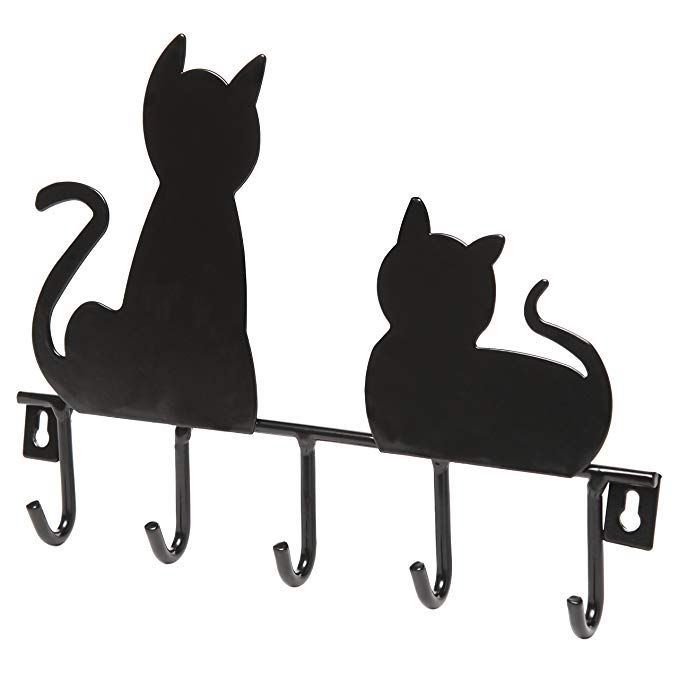 Wall Mounted 7 Hook Key Holder Cat Key Hook
