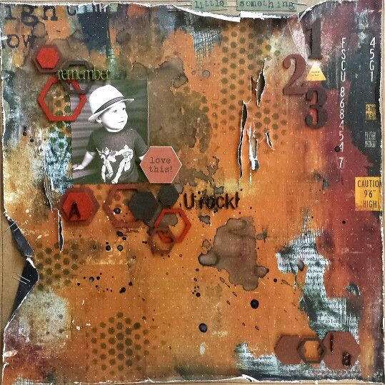 Remember U Rock layout by Amanda Baldwin for Imaginarium Designs,  featuring Kaisercraft Scrap Yard Collection