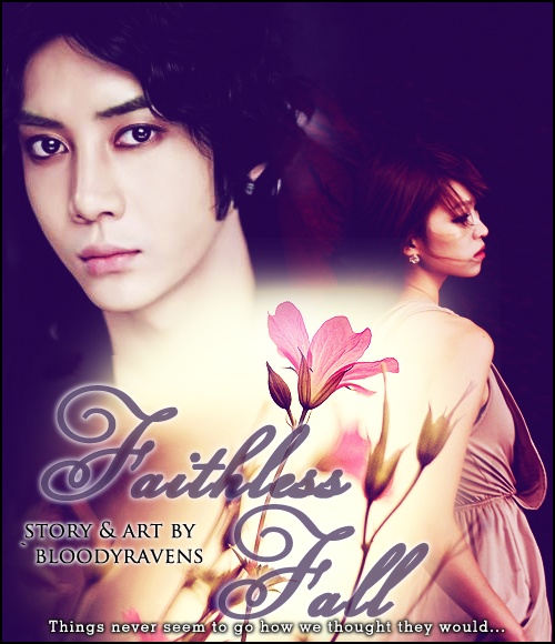 I am extremely happy with this poster >w<. Faithless Fall features Lee Gunwoo of the kpop band MyName and my original character, Hwang Aerin.