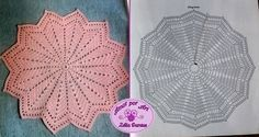 Toalhinhas ou centrinhos de mesa em crochê com gráfico