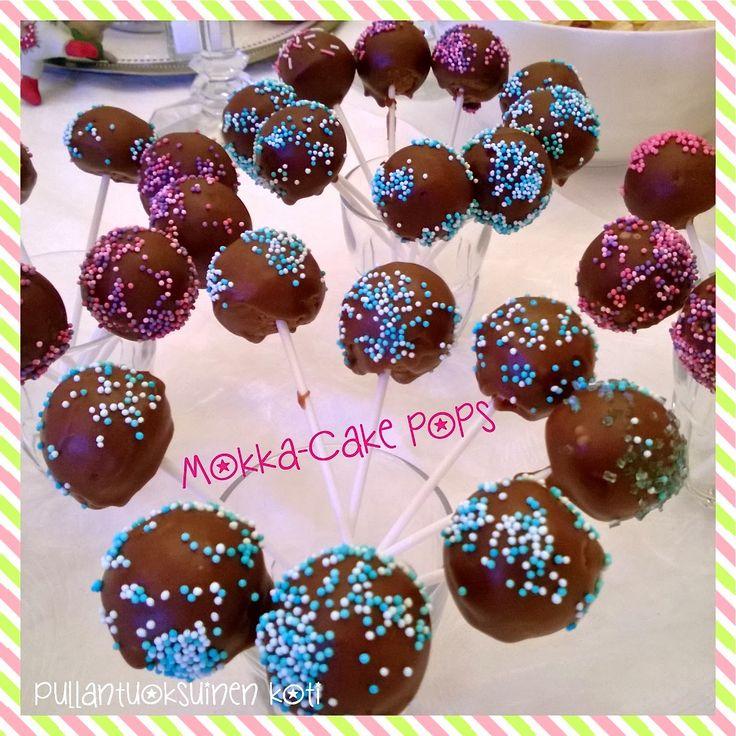 Pullantuoksuinen koti: Mokkapala Cakepopsit