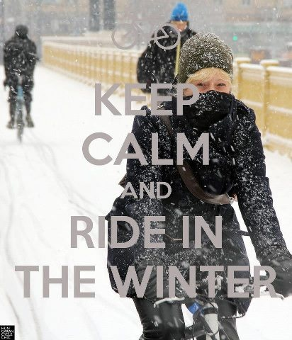 Winter bicycle commuting: Bundle up and enjoy the ride all year. #isadoreapparel #roadisthewayoflife #cyclingmemories
