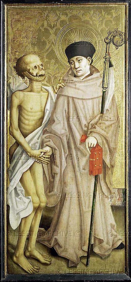 Maître à l' Oeuillet - St. Fridolin - Peinture  (c.1475 - 1500) - Musee des Beaux-Arts, Dijon