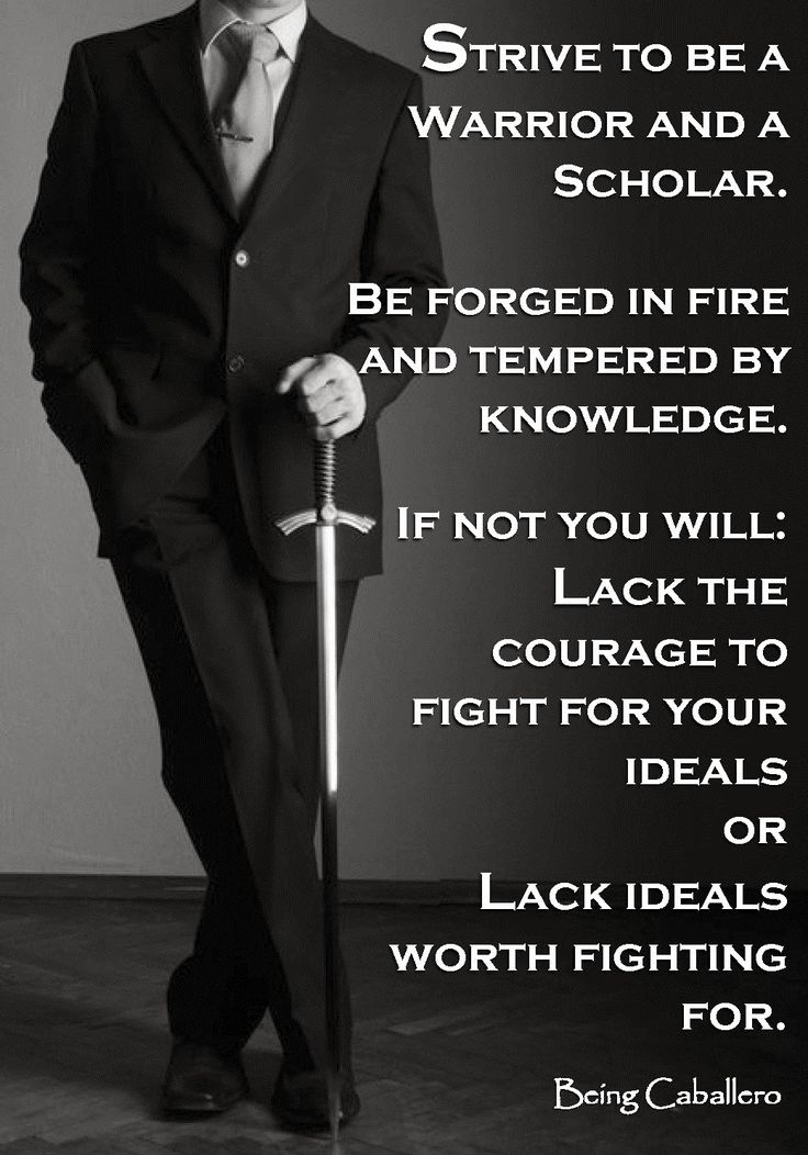 """The society that separates scholars from its warriors will have its thinking done by cowards and its fighting done by fools."""