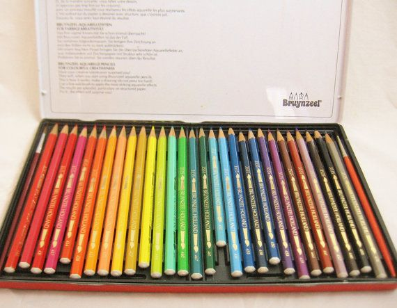 Bruynzeel Pencils/Watercolor Pencils/Made by GrannyBeansBoutique, $35.00