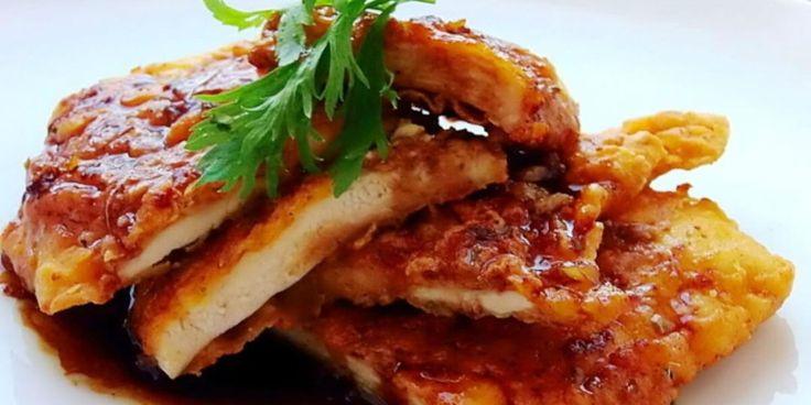 Κοτόπουλο με σος από μέλι