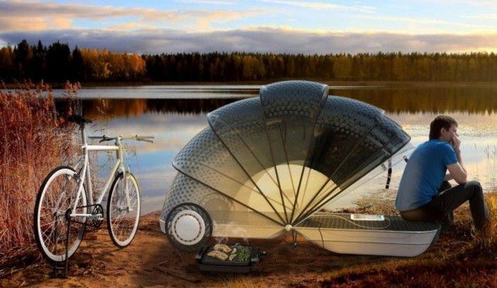 Cool Bike Trailer is a Camping Cocoon for Adventurous Cyclists - WebEcoist