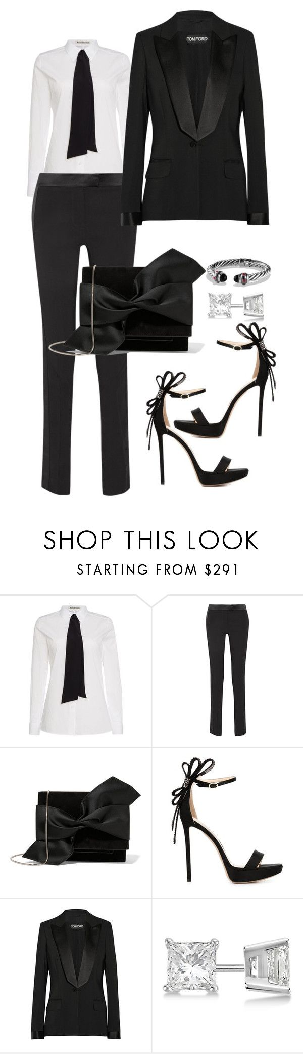"""Untitled #284"" by scannedbyaaron ❤ liked on Polyvore featuring Acne Studios, Tom Ford, Victoria Beckham, Nicholas Kirkwood, Allurez and David Yurman"