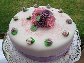 Decoración con rosas de azúcar