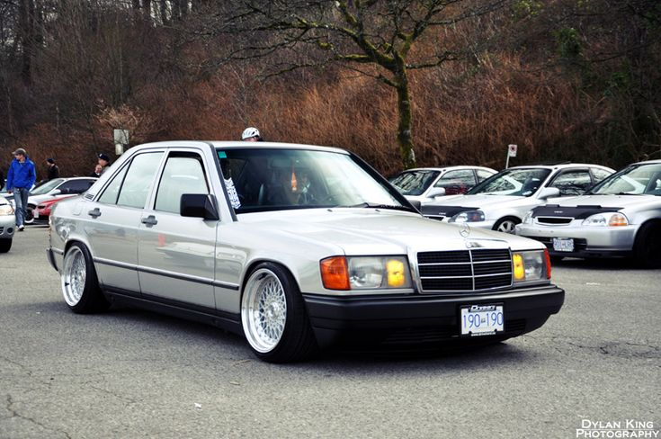 Classiness and Retro. Mercedes Benz 190E on BBS RS wheels