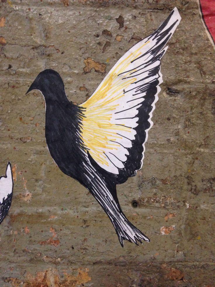 Laneway pasteups at Bird.