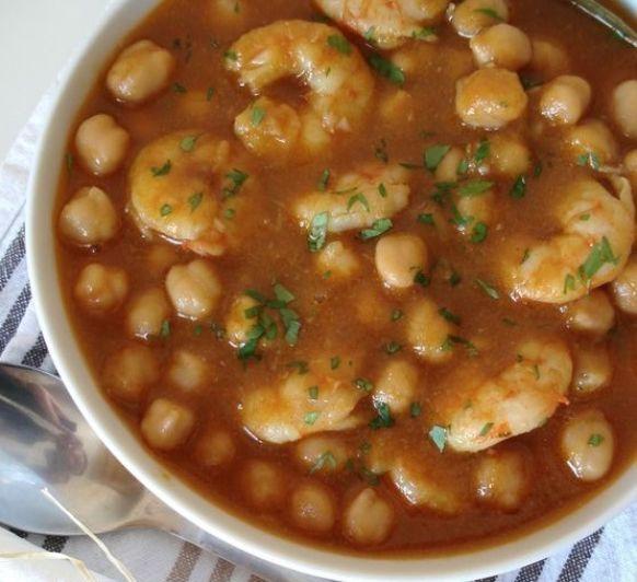 ¡¡¡¡GUISO DE GAMBAS, SETAS Y GARBANZOS ¡¡¡¡, una receta de Legumbres y platos de cuchara, elaborada por MARIA MAR DE CASTRO LOPEZ. Descubre las mejores recetas de Blogosfera Thermomix® Madrid Mendez Alvaro