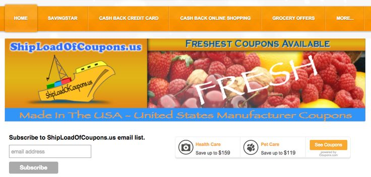 ShipLoadOfCoupons.us lists hundreds of manufacturer coupons to print for free.  #coupons #internet_coupons #food_coupons #grocery_coupons #groceries #food #shoprite #stopandshop #cvs #walgreens #target #walmart #dollar_store #eCoupons #digital_coupons