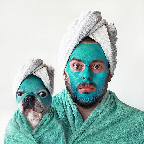 no words.: Quality Time, Funny Dogs, French Bulldogs, Faces Masks, Spa Day, Spaday, Funny Animal, Happy Weekend, Dresses Codes