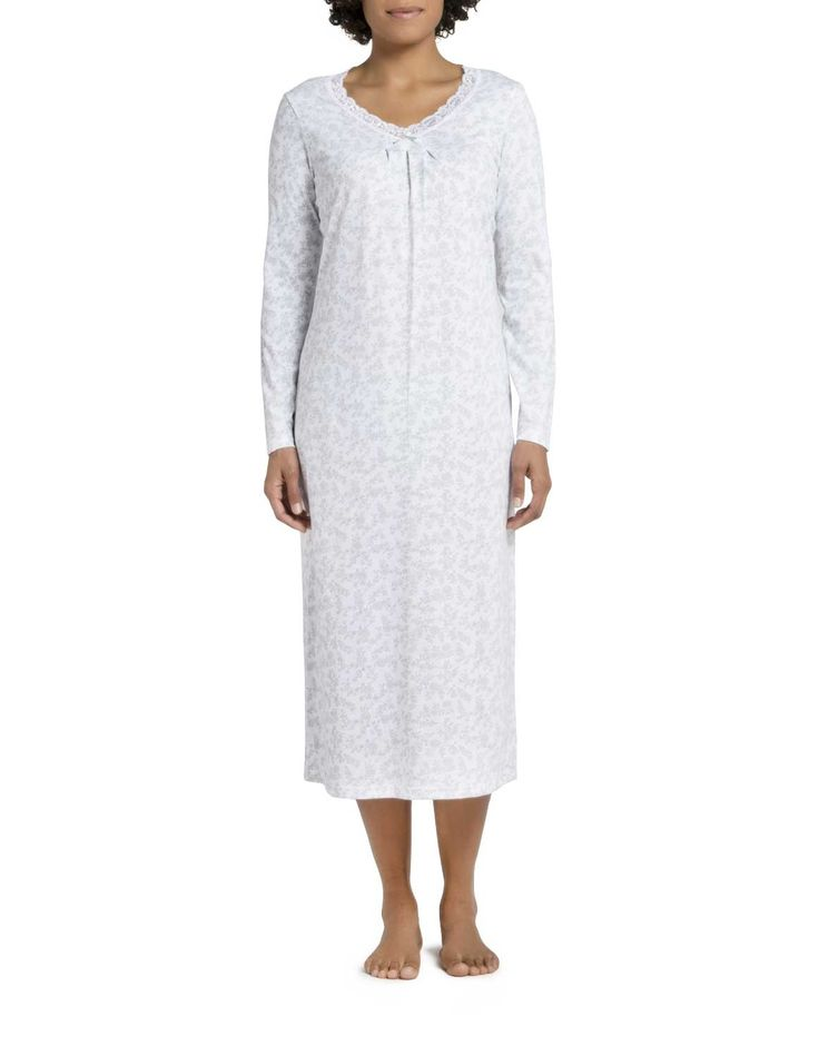 Floral Cotton Long Nightdress
