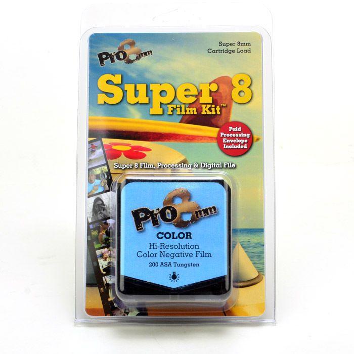 Super 8 Film Kit COLOR ASA 200T by pro8mm plus processing and digital scanning  #Kodak