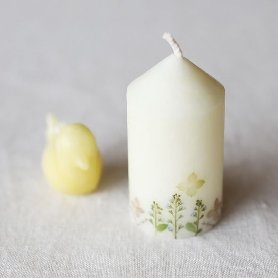 梅原 亜希乃/蜜蝋ろうそく「おんなのこ 夏のろうそく」 - 鳥モチーフ雑貨・鳥グッズのセレクトショップ:鳥水木 #candle #rousoku #bird #torimizuki